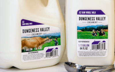Dungeness Valley Creamery New A2-Raw Milk Product