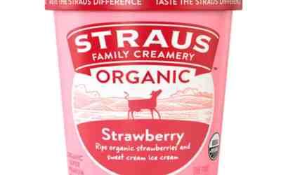 Straus Strawberry Ice Cream