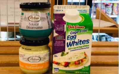 Eggy goodness! Bob Evans Egg Whites & Delouis Béarnaise and Hollandaise Sauces