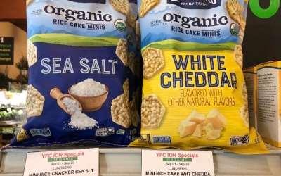 Lundberg Organic Rice Cake Minis, Sea Salt & White Cheddar.