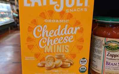 Sweet & Salty: Late July Organic Cheddar Cheese Minis & Lily's Dark Chocolate Peanut Butter Cups