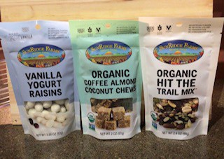 SunRidge Farms Organic Trail Mix, Yogurt Raisins & Organic Coffee Almond Chews