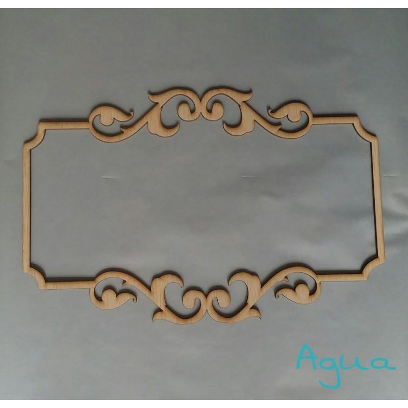 Nombre y marco personalizado en madera  Yelocai