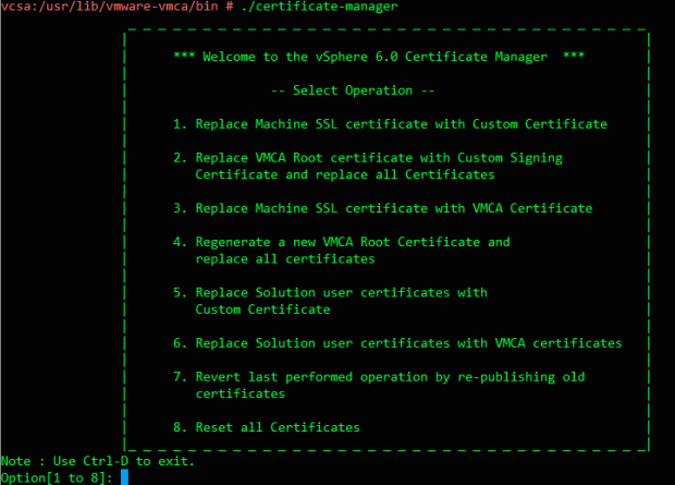 Certificate Manager Utility