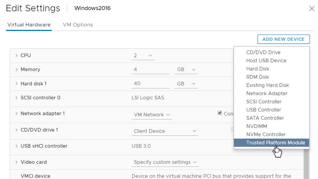 vSphere 6 7 – Virtual Trusted Platform Modules – Mike Foley