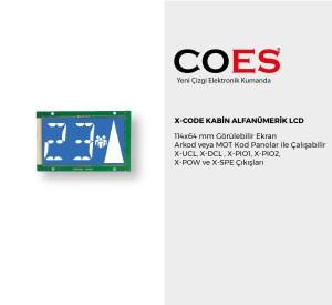X-CODE KABİN ALFANÜMERİK LCD