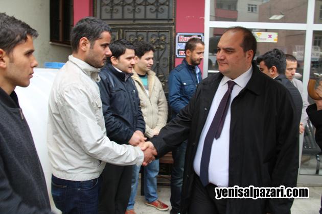 Kaymakam Cafer Sönmez, Dişçi Ahmet Şekerci'nin cenazesine katılarak yakınlarına başsağlığı diledi