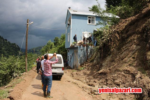 İfagat Çoban evinin yanındaki heyelana kapılarak can verdi