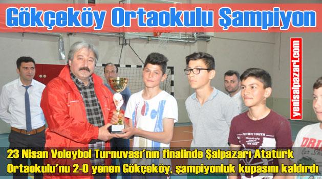 Voleybol Turnuvası'nda Gökçeköy Ortaokulu şampiyon oldu