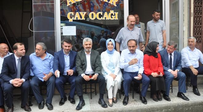 AK Parti Trabzon Milletvekili Adayları Şalpazarı ve Beşikdüzü'nde seçmenlerle buluştu