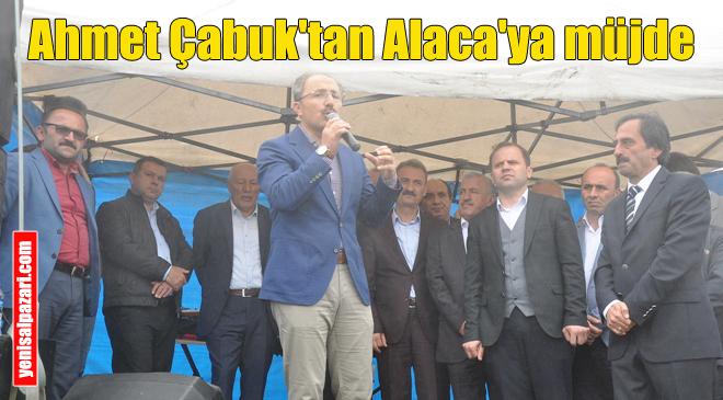 Ahmet Çabuk, Alaca Pazarının içini betonlama sözü verdi