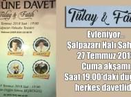 Mehmet Çakır, kızı Tülay'ın şenlik gibi düğün törenine herkesi davet ediyor