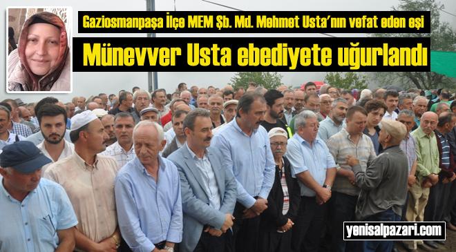 Münevver Usta'nın cenazesi Çarlaklı Mahallesi'nde gözyaşlarıyla toprağa verildi