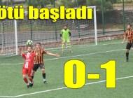 Şalpazarıspor Ligdeki ilk maçında kendi evinde Yolspor'a mağlup oldu