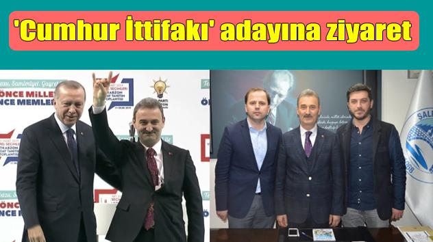 AK Parti Şalpazarı İlçe Teşkilatı ittifak adayı Kurukız'ı ziyaret etti