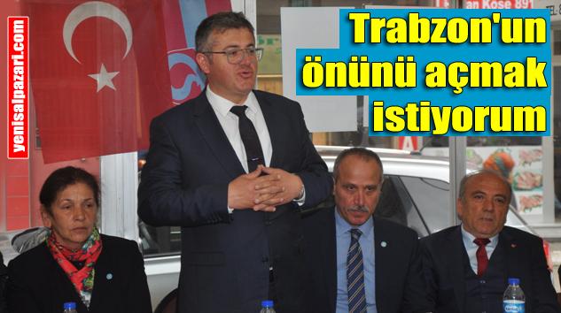 İYİ Parti Şalpazarı'nda kahvehane toplantısı yaptı