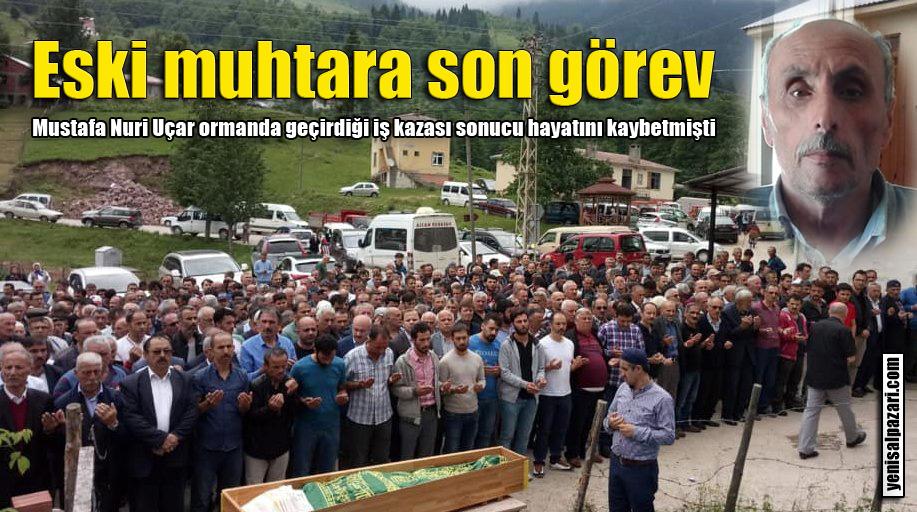 Sinlice eski Muhtarı Mustafa Nuri Uçar'ın cenazesi toprağa verildi