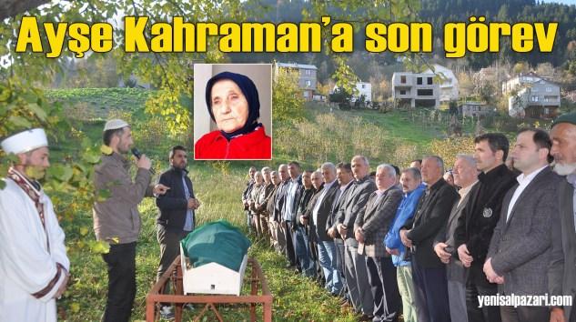 Trabzon Şalpazarlılar Derneği Başkanı Turgut Kahraman'ın vefat eden annesinin cenazesi Simenli'de toprağa verildi