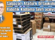 Üsküdar Belediyesi'nden Şalpazarı Atatürk Ortaokulu'na Kodlama Sınıfı