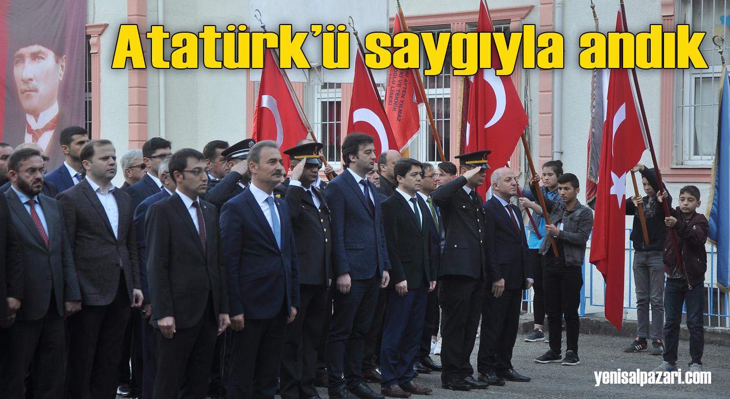 Şalpazarı'nda Atatürk vefatının 81. yıldönümünde saygıyla anıldı