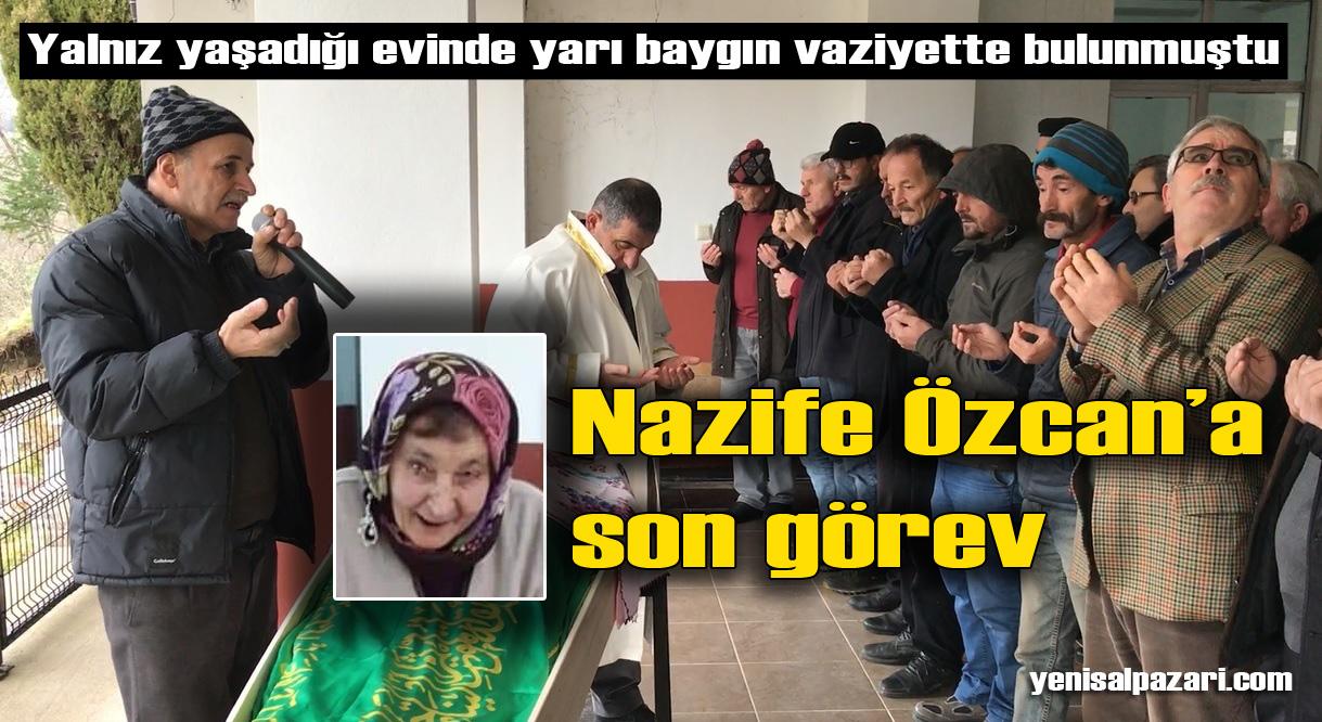 Nazife Özcan'ın cenazesi Sugören Mahallesi'nde toprağa verildi
