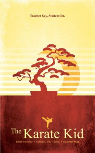 Karate Kid retro poster