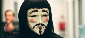 Los ejemplos malos sobre V de Vendetta hacen llorar a los Anonymous tras sus máscaras de Guy Fawkes.