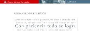 refranero multilingüe CVC