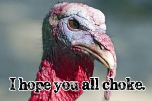 Y esto es lo que diría un pavo en Acción de Gracias (Thanksgiving), por ejemplo...