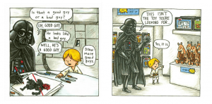 Podría ocurrir... Darth vader and Son by Jeffrey Brown.