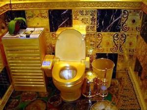 Quién sabe, quizá algún día podamos permitirnos un retrete de oro...