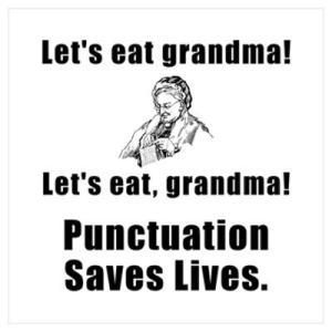 Y no olvidemos que, como dijimos aquí, las comas salvan vidas.