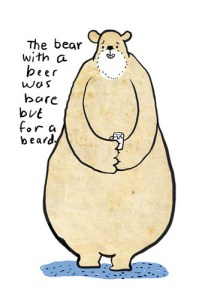 bare bear with a beard