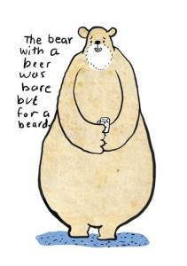 bare bear with a beard