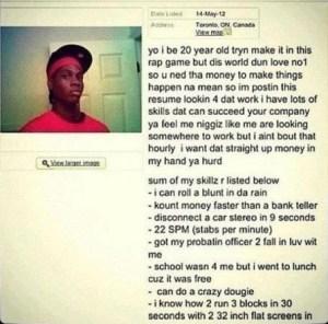 Gangsta resume