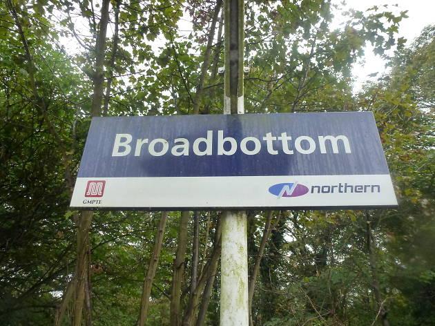Cartel de Boardbottom Nombres de lugar curiosos en UK