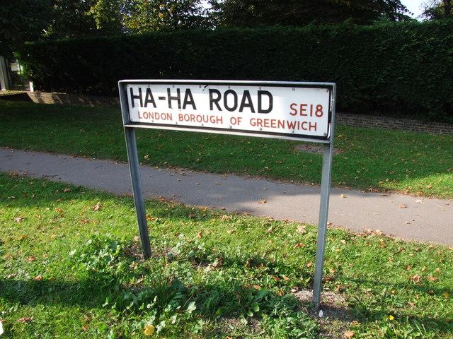 Ha-ha Road Sign