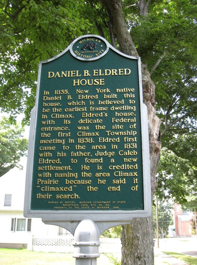 Daniel B. Eldred House Climax