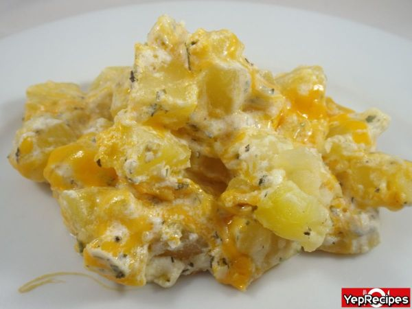 Marble Cheesy Potatoes Recipe