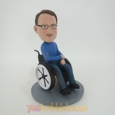 wheelchair man folding chair v-tip stability plug custom bobblehead doll in bobbleheads from picture of