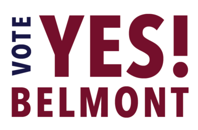 Vote YES for Belmont Logo