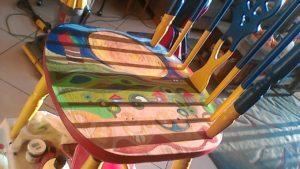 צביעת הציור בצבעי אקריליק