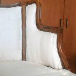 מילוי הספה - בצדדים בחלק הפנימי - יריעת צמר גפן ומתיחת בד כותנה זול