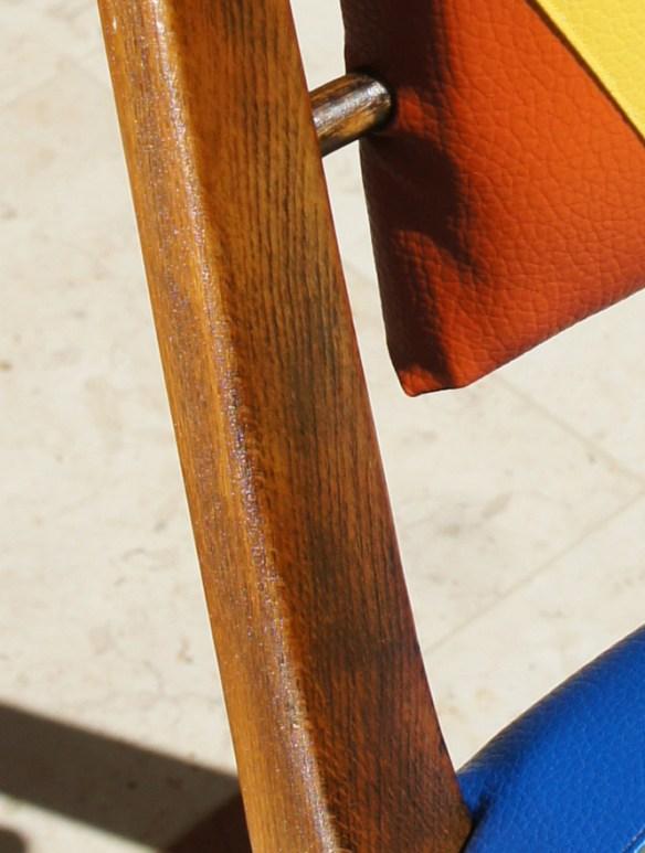 הכסא הצבעוני - העץ לאחר פוליטורה