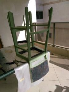 יש מיש כסאות הבר צביעת גוף הכסאות ללא המשענת