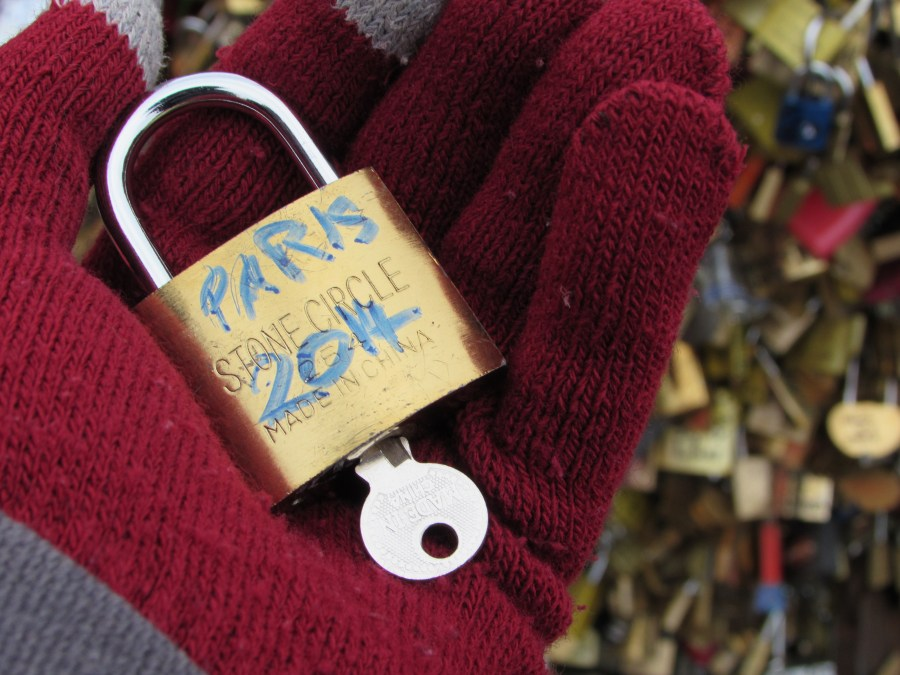 Paris padlock bridge