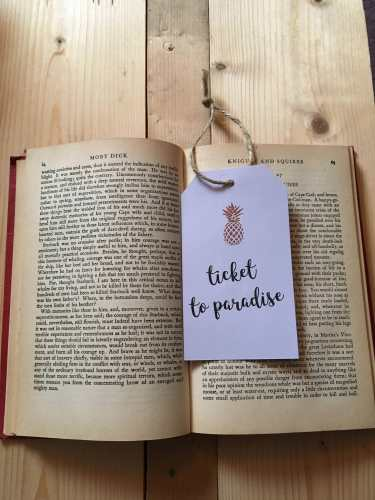 Lets Run Away Ticket to Paradise Bookmark | The Writing Room Etsy Store | Inspirational Travel Quotes | Yesihaveablog