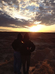 Sunrise over Badlands National Park