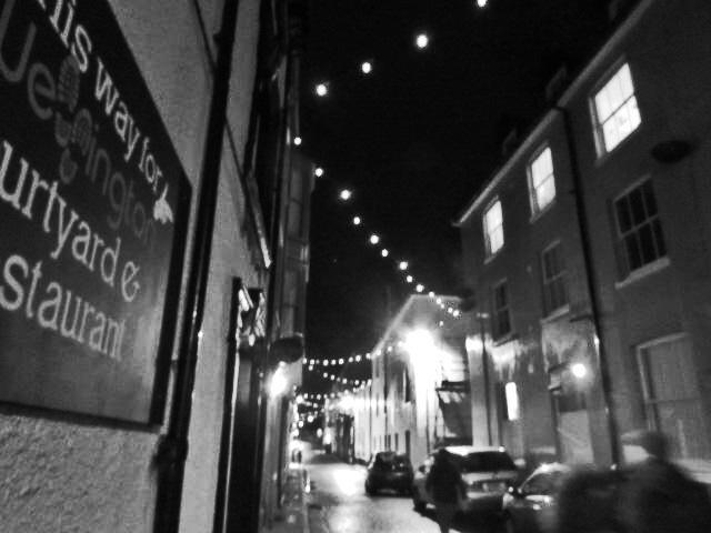 Christmas lights Cromer Norfolk England