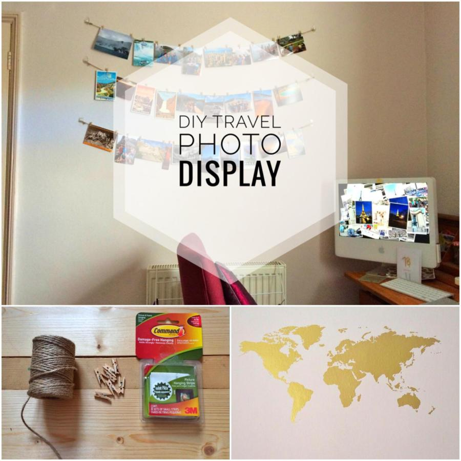 Travel Photo Display | Yesihaveablog | What to do with travel photos | DIY Photo Display | DIYWall Art Wall Sticker